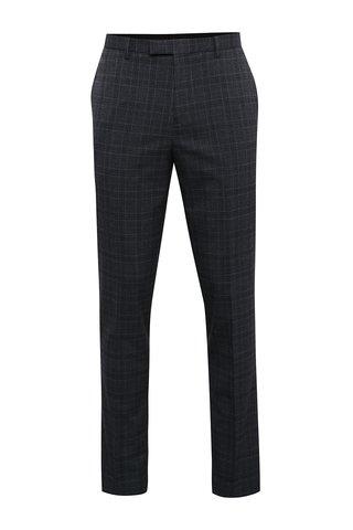 Pantaloni gri de costum cu model in carouri Burton Menswear London