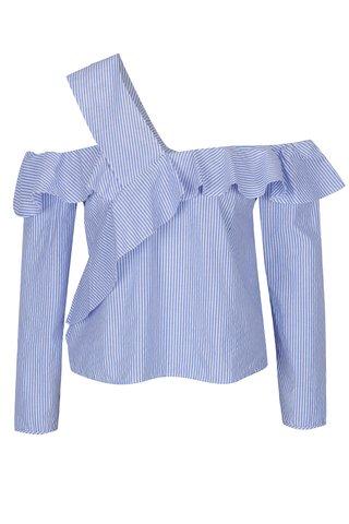 Bluza crem & albastru cu decolteu pe umeri - Miss Selfridge Petites
