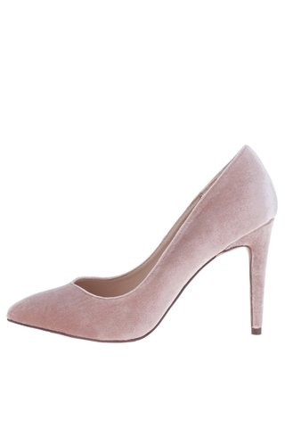 Pantofi stiletto roz pudrat cu aspect catifelat - Dorothy Perkins