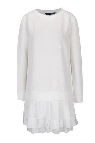 Krémové šaty s plisovanou spodní částí French Connection Tommy