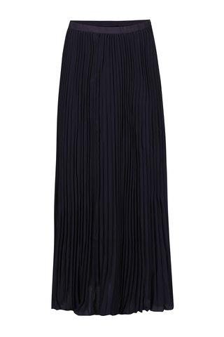 Tmavě modrá plisovaná maxi sukně French Connection Classc