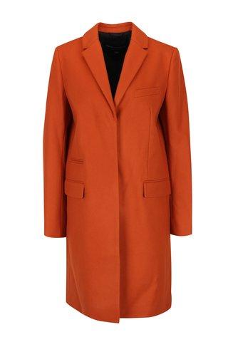 Palton portocaliu din lana si casmir French Connection Platform