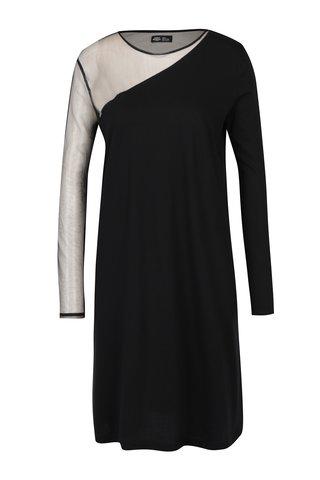 Rochie neagra cu insertie din tulle transparent Cheap Monday Claim