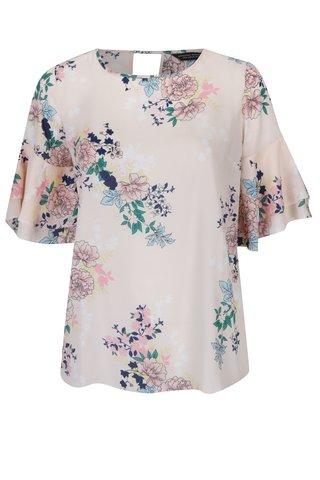 Bluza lejera cu print floral Dorothy Perkins Curve