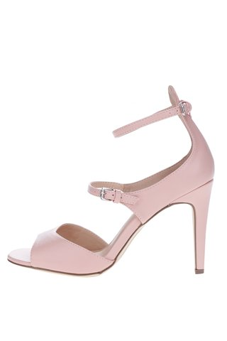 Sandale roz prafuit cu toc stiletto Dorothy Perkins