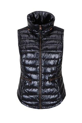 Tmavě fialová dámská lesklá prošívaná vesta Garcia Jeans