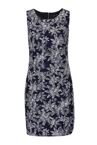 Rochie tubulara bleumarin cu imprimeu cu frunze - Mela London