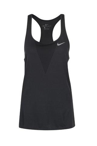Top negru cu perforatii pentru femei Nike
