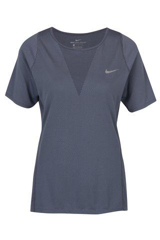 Tricou gri de antrenament pentru femei Nike Zonal Cooling Relay