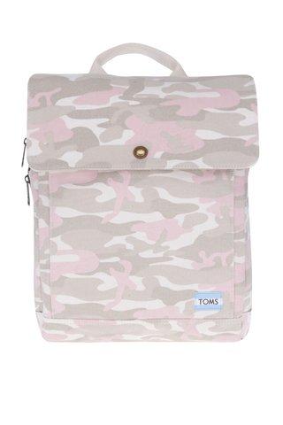 Rucsac cu buzunar pentru notebook cu print camuflaj pentru femei TOMS