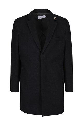 Tmavě šedý vlněný kabát Farah Portobello