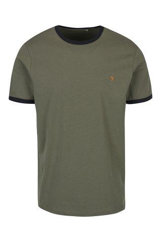 Khaki tričko Farah Groves