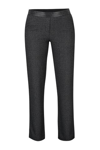 Pantaloni gri inchis cu model herringbone - DEHA