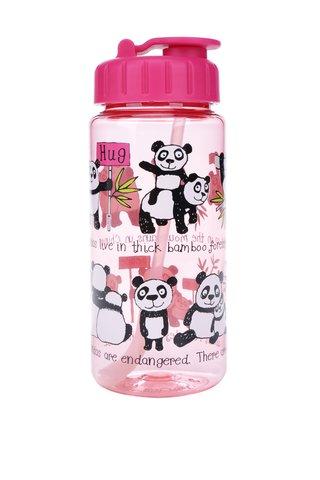 Růžová holčičí lahev na pití Tyrrell Katz Pandas