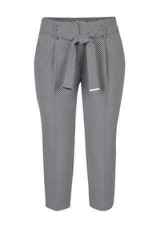 Pantaloni trei sferturi cu model pepit si cordon Dorothy Perkins Petite