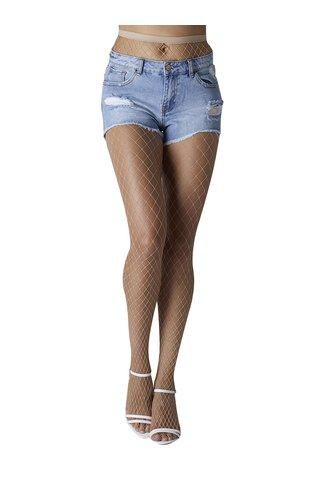 Béžové síťované punčochové kalhoty Gipsy