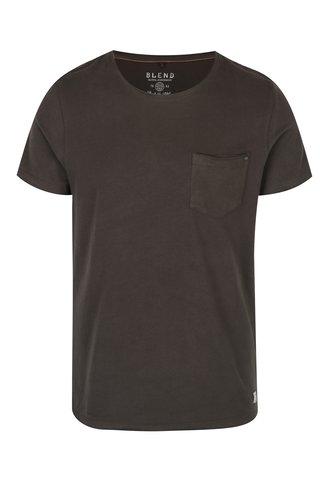 Tmavě zelené tričko s náprsní kapsou Blend