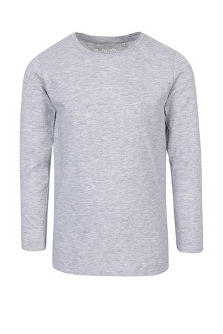 Světle šedé holčičí žíhané tričko s dlouhým rukávem 5.10.15.