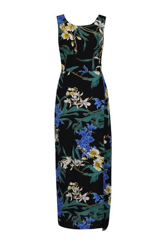Rochie maxi cu print floral si cordon in talie Dorothy Perkins