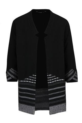 Cardigan negru cu print geometric -  Desigual Vir