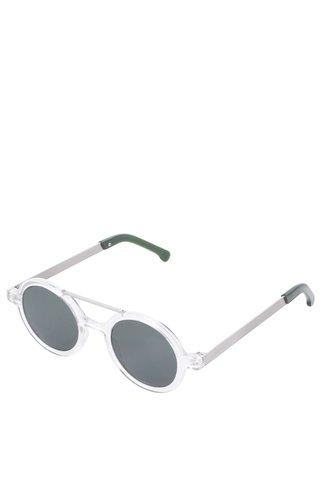 Dámské kulaté sluneční brýle ve stříbrné barvě Komono Vivien
