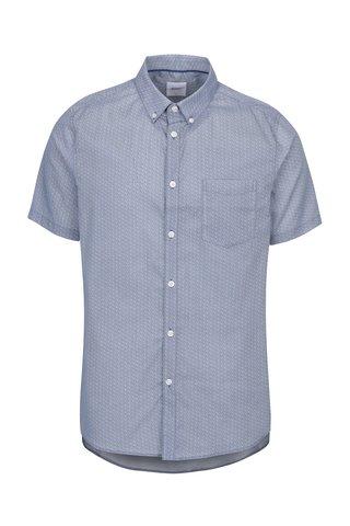 Camasa albastra buttons down din bumbac - Burton Menswear London