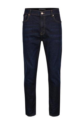 Blugi albastru inchis regular - Burton Menswear London
