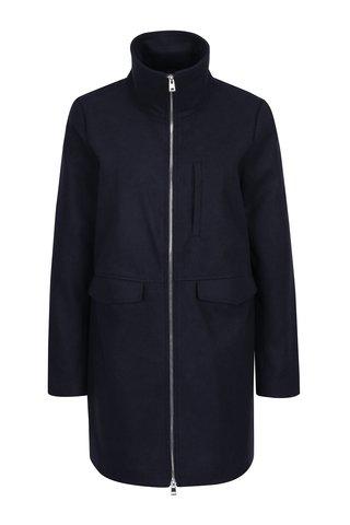 Jacheta bleumarin din stofa cu fermoar Noisy May Minna