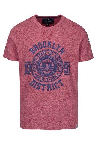 Tricou din bumbac rosu & albastru pentru barbati