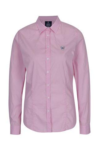 Camasa roz cu logo brodat pentru femei - Jimmy Sanders