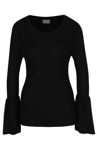 Černý lehký svetr se zvonovými rukávy VILA Lesly