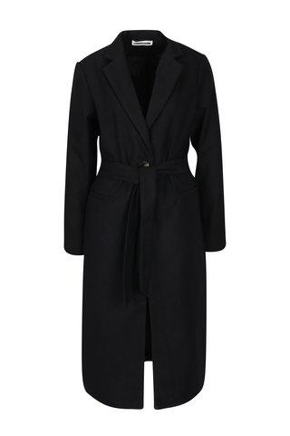 Palton negru cu cordon Noisy May Minna