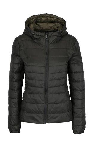 Khaki prošívaná bunda s kapucí ONLY Tahoe