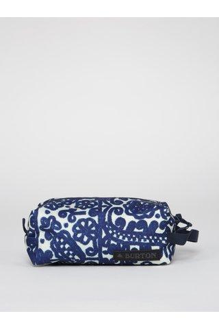 Krémovo-modrá dámská vzorovaná kosmetická taštička Burton Accesory