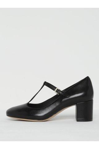 Pantofi negri din piele naturala cu bareta - Clarks Orabella Fern