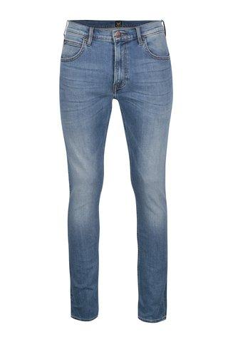 Světle modré pánské slim fit džíny s vyšisovaným efektem Lee
