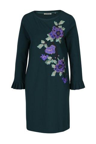 Rochie verde cu broderii florale Rich & Royal