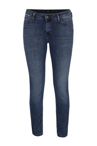 Modré dámské scarlett skinny džíny s vyšisovaným efektem Lee