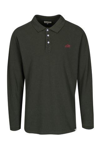 Bluza polo verde inchis pentru barbati - Shine Original