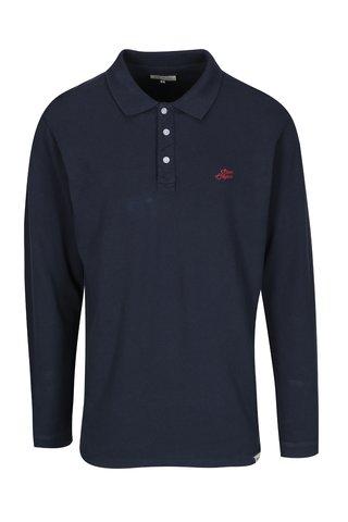 Bluza polo bleumarin cu logo brodat pentru barbati - Shine Original