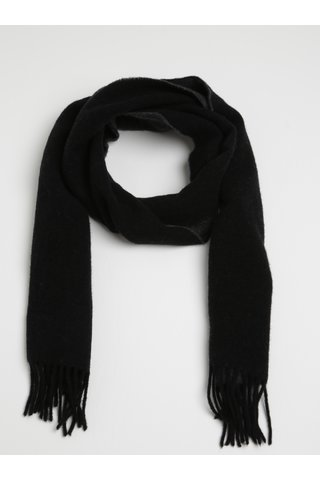 Esarfa gri & negru de lana pentru femei - GANT