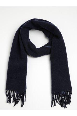 Esarfa bleumarin din lana pentru femei - GANT