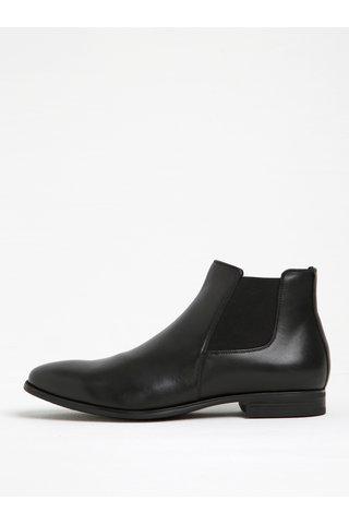 Černé pánské kožené chelsea boty Geox Albert 2Fit