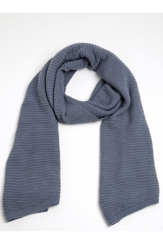 Esarfa albastra tricotata - Pieces June