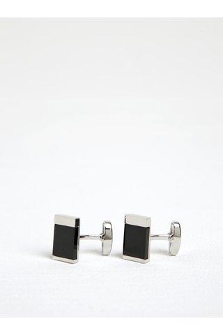 Butoni metalici argintiu cu negru Dice
