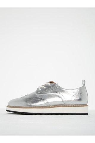 Pantofi brogue argintii ONLY Tyra