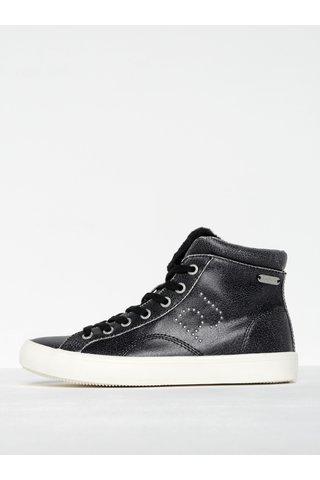 Pantofi sport tip gheata negri pentru femei  Pepe Jeans Clinton Sally