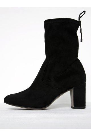 Cizme negre cu toc si fermoar - Tamaris