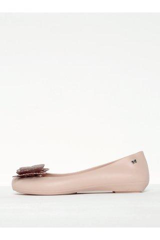 Balerini roz pal parfumati cu funda tip fluture -  Zaxy Butterfly