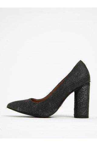 Pantofi gri din piele intoarsa cu toc Selected Femme Alexandra